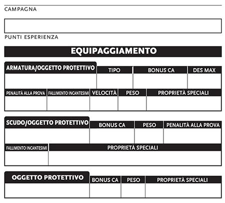 SCHEDA PERSONAGGIO D&D 3.5 EPUB